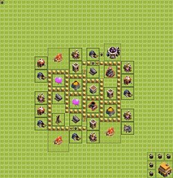Base plan (layout), Town Hall Level 5 for farming (variant 3)