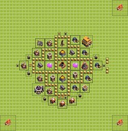 Base plan (layout), Town Hall Level 5 for farming (variant 4)