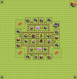 Base plan (layout), Town Hall Level 5 for farming (variant 5)