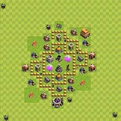 Base plan (layout), Town Hall Level 5 for farming (variant 55)