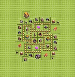 Base plan (layout), Town Hall Level 5 for farming (variant 7)