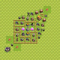 Base plan (layout), Town Hall Level 5 for farming (variant 73)