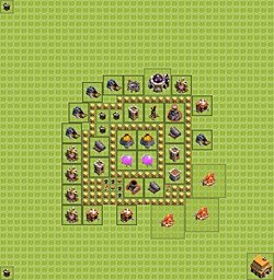 Base plan (layout), Town Hall Level 5 for farming (variant 8)