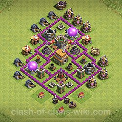 Base plan (layout), Town Hall Level 6 for trophies (defense) (#100)