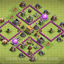 Base plan (layout), Town Hall Level 6 for trophies (defense) (#101)