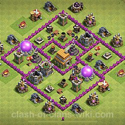 Base plan (layout), Town Hall Level 6 for trophies (defense) (#103)
