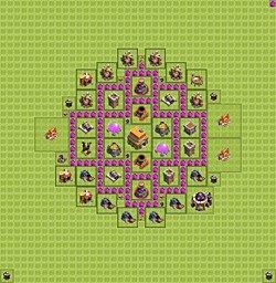 план строения базы в clash of clans ратуша 7лвл