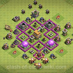 Base plan (layout), Town Hall Level 6 for trophies (defense) (#95)