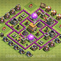 Base plan (layout), Town Hall Level 6 for trophies (defense) (#96)