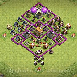 Base plan (layout), Town Hall Level 6 for trophies (defense) (#98)