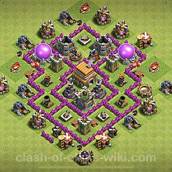 Base plan (layout), Town Hall Level 6 for trophies (defense) (#99)