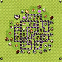 Base plan (layout), Town Hall Level 7 for trophies (defense) (#114)