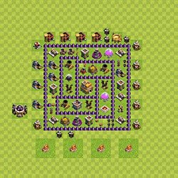 Base plan (layout), Town Hall Level 7 for trophies (defense) (#119)