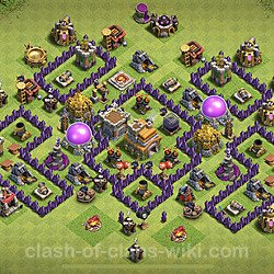 Base plan (layout), Town Hall Level 7 for trophies (defense) (#126)