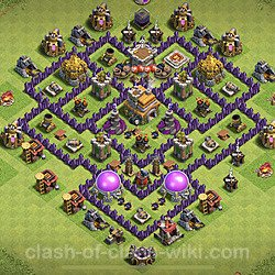 Base plan (layout), Town Hall Level 7 for trophies (defense) (#127)