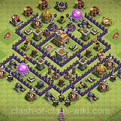Base plan (layout), Town Hall Level 7 for trophies (defense) (#128)