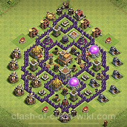Base plan (layout), Town Hall Level 7 for trophies (defense) (#129)