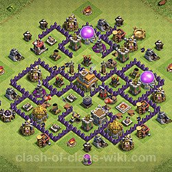 Base plan (layout), Town Hall Level 7 for trophies (defense) (#131)