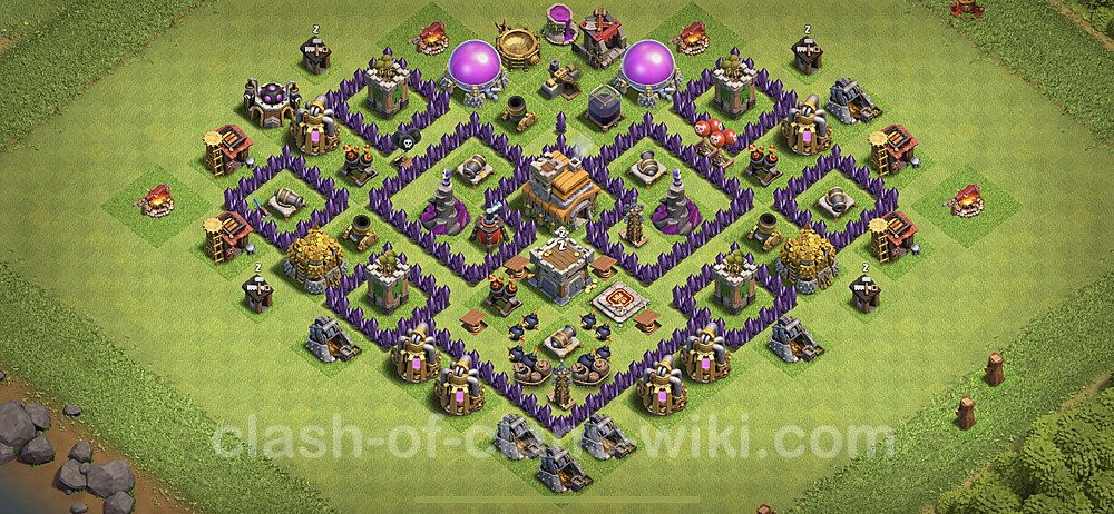 TH7 Anti 3 Stars Base Plan with Link, Copy Town Hall 7 Base Design 2020, #125
