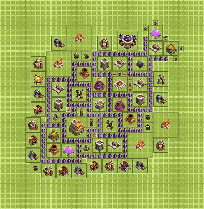 ... layout / design) TH 7 - Clash of Clans - Town Hall Level 7 (Variant 18