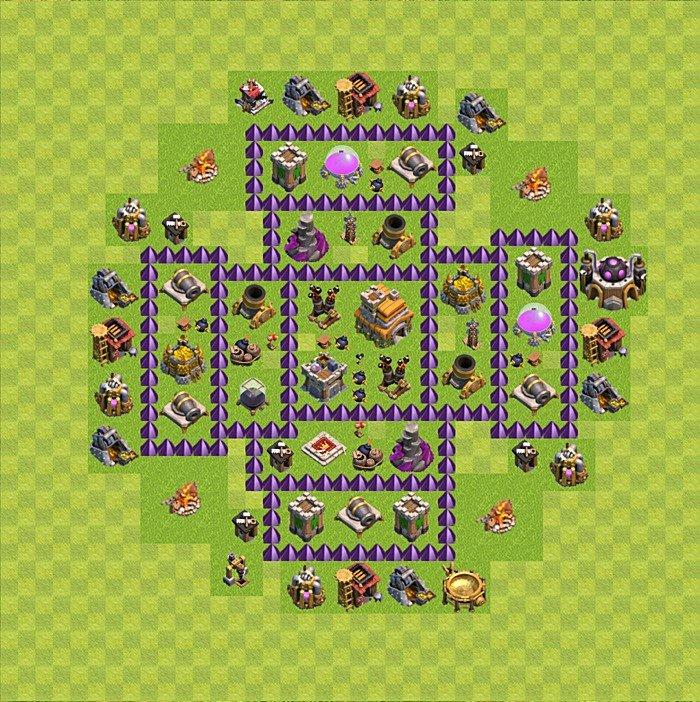 реальной карта для сос для 7 уровня ратуши заднее вместо штатного