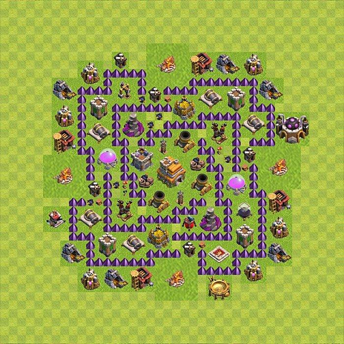 карта для сос для 7 уровня ратуши Печь опилках
