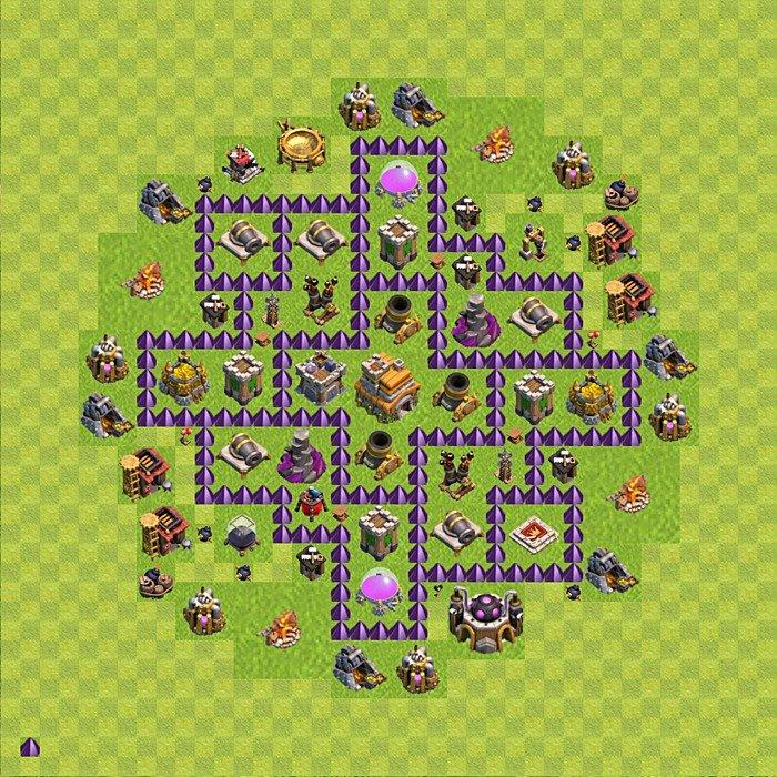 Clash of clans rathaus level 7 th 7 rh 7 variant 84