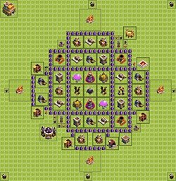 Base plan (layout), Town Hall Level 7 for farming (#1)