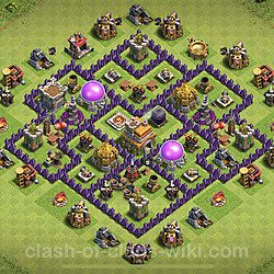 Base plan (layout), Town Hall Level 7 for farming (#157)