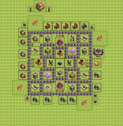 Base plan (layout), Town Hall Level 7 for farming (#2)