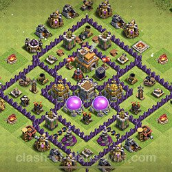 Best Th7 Farming Base Layouts With Links 2021 Copy Town Hall Level 7 Coc Farm Bases