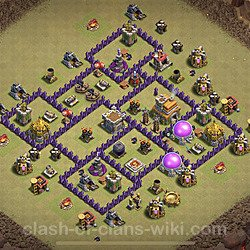 Base plan (layout), Town Hall Level 7 for clan wars (#1)