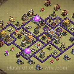 Base plan (layout), Town Hall Level 7 for clan wars (#11)