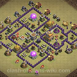 Base plan (layout), Town Hall Level 7 for clan wars (#12)