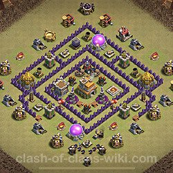 Base plan (layout), Town Hall Level 7 for clan wars (#13)