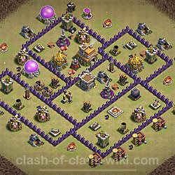 Base plan (layout), Town Hall Level 7 for clan wars (#2)