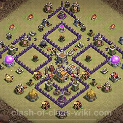 Base plan (layout), Town Hall Level 7 for clan wars (#3)