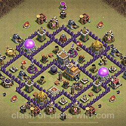 Base plan (layout), Town Hall Level 7 for clan wars (#4)