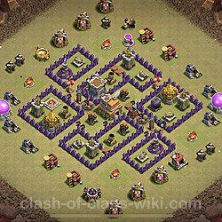 Base plan (layout), Town Hall Level 7 for clan wars (#5)