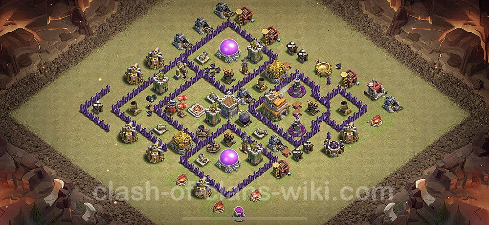 TH7 Max Levels War Base Plan with Link, Copy Town Hall 7 Design 2020, #12