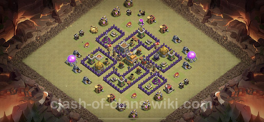 TH7 Max Levels War Base Plan with Link, Copy Town Hall 7 Design 2020, #5