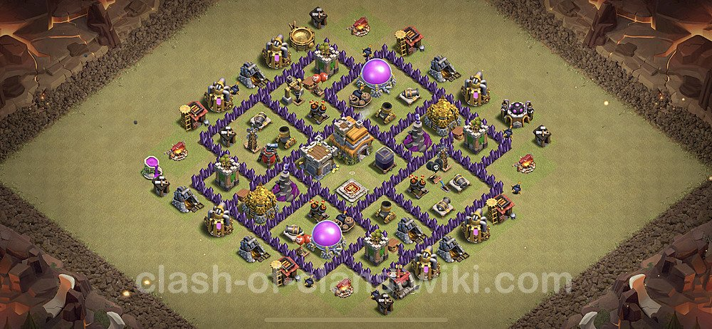 TH7 Anti 3 Stars War Base Plan with Link, Copy Town Hall 7 Design 2020, #7