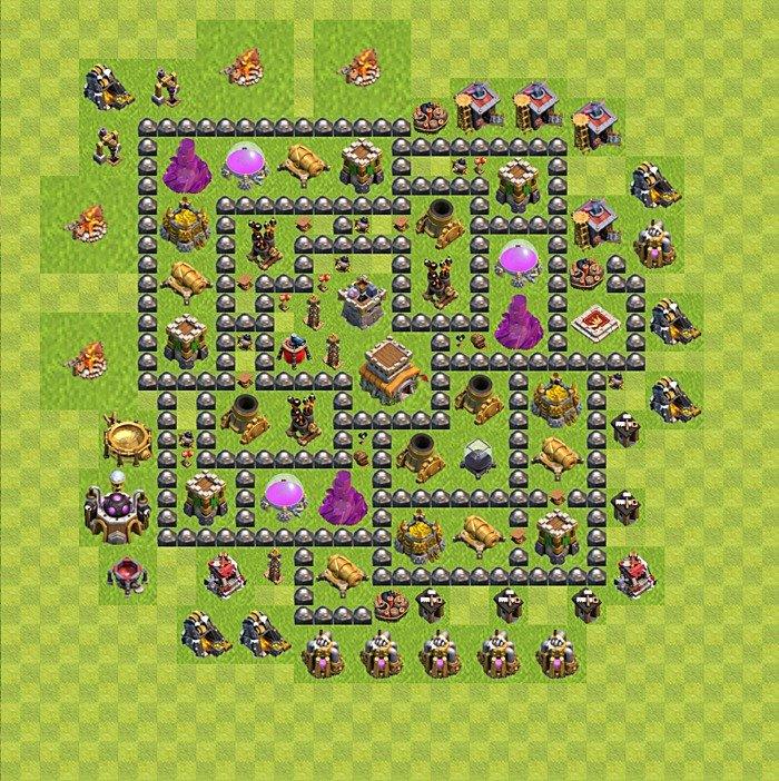 Base plan for trophies collection in TH 8, variant 116