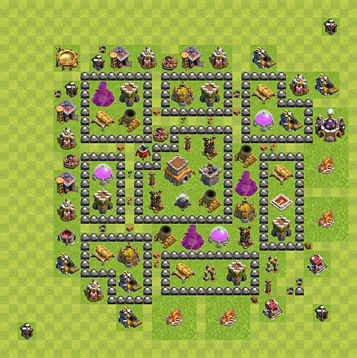 Base plan for trophies collection in TH 8, variant 117