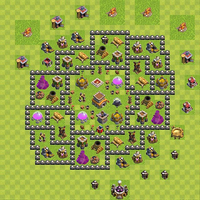 Base plan for trophies collection in TH 8, variant 118