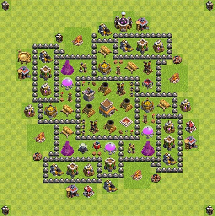 Base plan for trophies collection in TH 8, variant 120