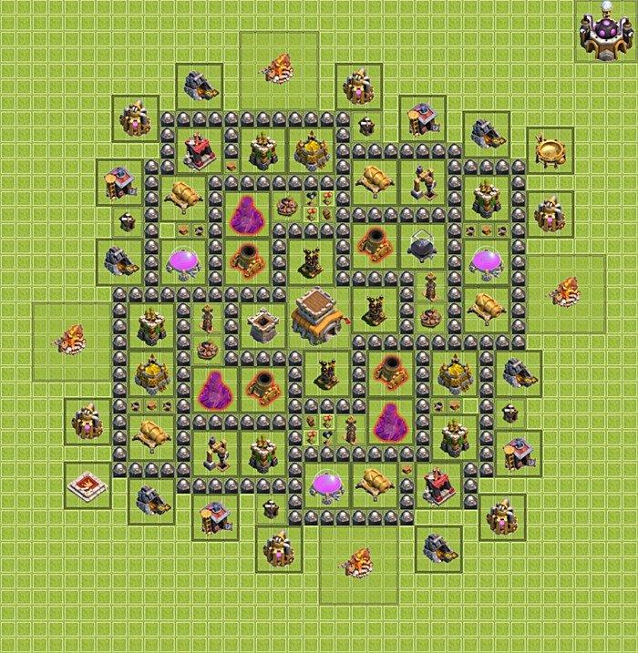самая трудная база в clash of clans 9ратуша #9