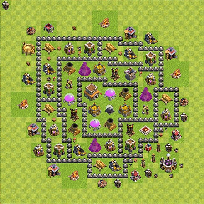 trophy defense base plan layout design th 8 clash of clans