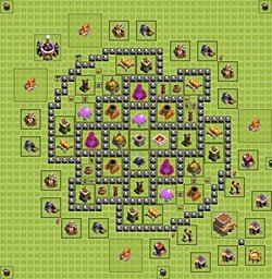 Base plan (layout), Town Hall Level 8 for farming (variant 2)