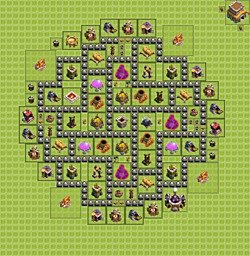 Base plan (layout), Town Hall Level 8 for farming (variant 3)